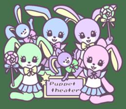 Rabbit's puppet theater sticker #9129167