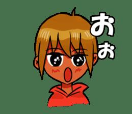 Genki boy AKIRA sticker #9137429