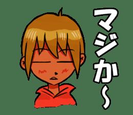 Genki boy AKIRA sticker #9137435