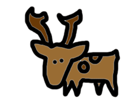Cute ugly zoo sticker #9138518