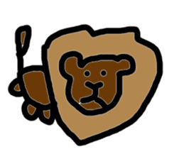 Cute ugly zoo sticker #9138523