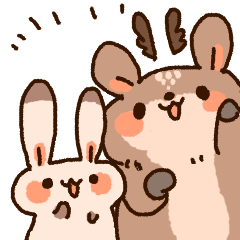deer and rabbit