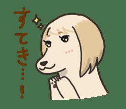 """Ladylike dog girl """"Namikoro2"""" sticker #9148422"""