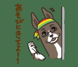 """Ladylike dog girl """"Namikoro2"""" sticker #9148426"""