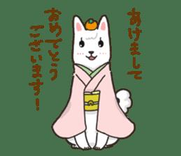 """Ladylike dog girl """"Namikoro2"""" sticker #9148430"""