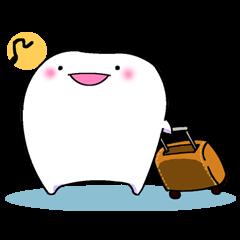teeth go on a trip