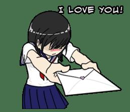 31 Days I love you 9 Days I hate you (F) sticker #9154632