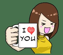 31 Days I love you 9 Days I hate you (F) sticker #9154633