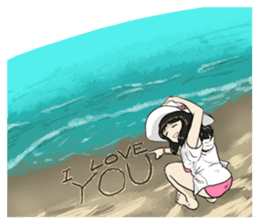 31 Days I love you 9 Days I hate you (F) sticker #9154638