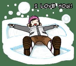 31 Days I love you 9 Days I hate you (F) sticker #9154642
