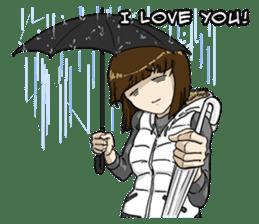 31 Days I love you 9 Days I hate you (F) sticker #9154659