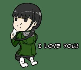 31 Days I love you 9 Days I hate you (F) sticker #9154660