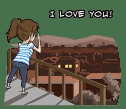 31 Days I love you 9 Days I hate you (F) sticker #9154662