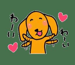 "The dog of healing ""HANA"" 3 sticker #9158592"