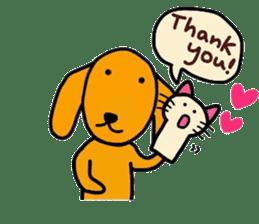 "The dog of healing ""HANA"" 3 sticker #9158607"