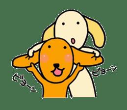 "The dog of healing ""HANA"" 3 sticker #9158609"
