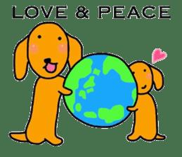 "The dog of healing ""HANA"" 3 sticker #9158615"