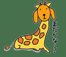 "The dog of healing ""HANA"" 3 sticker #9158616"