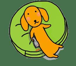 "The dog of healing ""HANA"" 3 sticker #9158620"