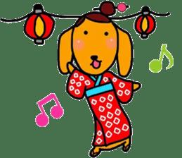 "The dog of healing ""HANA"" 3 sticker #9158622"