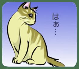 Lazy cat sticker + sticker #9159837