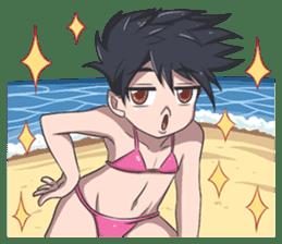 Lily & Marigold (Summer Beach Vacation) sticker #9163068