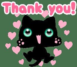 Black Kitty sticker #9182120