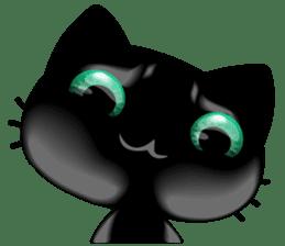 Black Kitty sticker #9182155