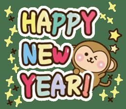 New year monkey 2016 sticker #9192416