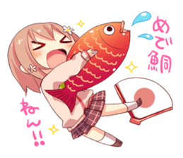 The Kansai dialect girl sticker #9196155