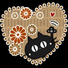 Sticker. black cat