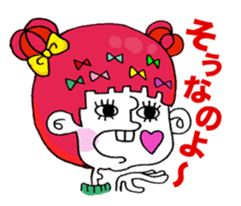 Colorful girl with happy friends Part2 sticker #9205048