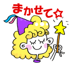 Colorful girl with happy friends Part2 sticker #9205049