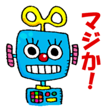 Colorful girl with happy friends Part2 sticker #9205053