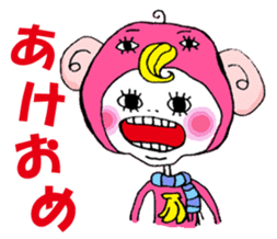 Colorful girl with happy friends Part2 sticker #9205056