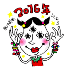 Colorful girl with happy friends Part2 sticker #9205058