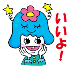Colorful girl with happy friends Part2 sticker #9205060