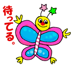 Colorful girl with happy friends Part2 sticker #9205063