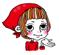 Colorful girl with happy friends Part2 sticker #9205064