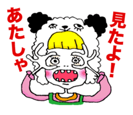 Colorful girl with happy friends Part2 sticker #9205068