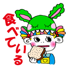 Colorful girl with happy friends Part2 sticker #9205069