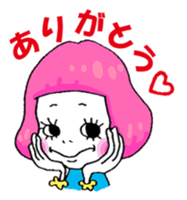 Colorful girl with happy friends Part2 sticker #9205073
