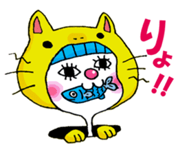 Colorful girl with happy friends Part2 sticker #9205074