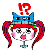 Colorful girl with happy friends Part2 sticker #9205076