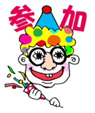 Colorful girl with happy friends Part2 sticker #9205078