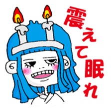 Colorful girl with happy friends Part2 sticker #9205083