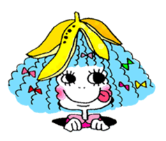 Colorful girl with happy friends Part2 sticker #9205086