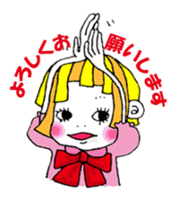 Colorful girl with happy friends Part2 sticker #9205087