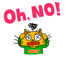 Chat in English with TBS CatChat! sticker #9205209