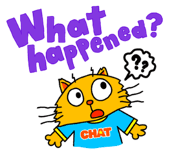 Chat in English with TBS CatChat! sticker #9205213